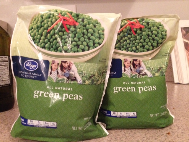 No need to get fancy with the peas. Kroger brand will do you just fine.
