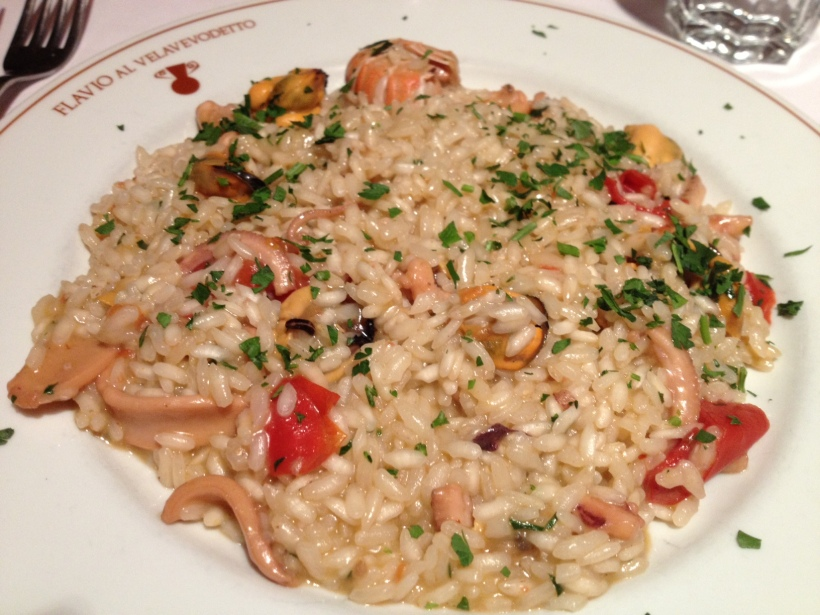 Since the menu changes daily, we had a completely different experience. But a wonderful one nonetheless. I enjoyed a hearty plate of seafood risotto.