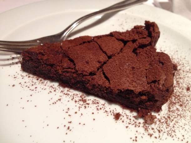 Followed by this chocolate torte.